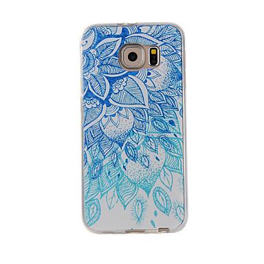 Για το Samsung Galaxy Σημείωση 5 Σημείωση 4 κάλυψη περίπτωσης μπλε και άσπρο ζωγραφισμένο πρότυπο κινητό τηλέφωνο tpu περίπτωση