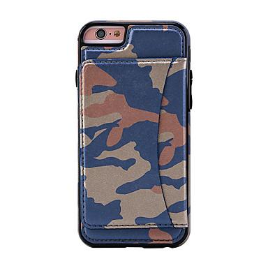 Varten Korttikotelo / Tuella Etui Takakuori Etui Armeijatyyli Kova Tekonahka varten AppleiPhone 7 Plus / iPhone 7 / iPhone 6s Plus/6 Plus