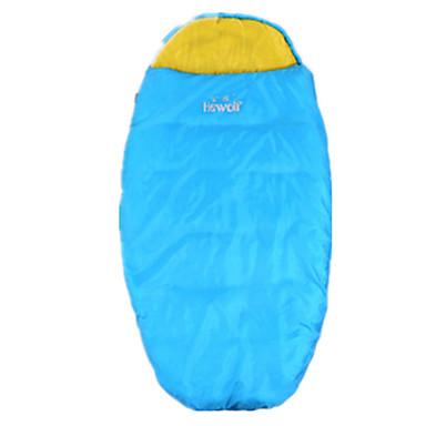 حقيبة النوم حقيبة خفيفة بطانة فرو 10°C جيدة التهوية مقاوم للماء المحمول ضد الهواء مكتشف الأمطار قابلة للطى للأطفال مختوم 190 تخييم داخلي