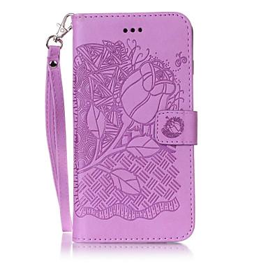 Varten Lomapkko / Korttikotelo / Tuella / Flip / Koristeltu / Kuvio Etui Kokonaan peittävä Etui Kukka Kova Tekonahka varten AppleiPhone 7