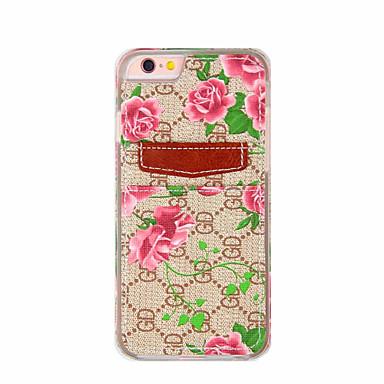Για Με σχέδια tok Πίσω Κάλυμμα tok Λουλούδι Μαλακή Συνθετικό δέρμα για AppleiPhone 7 Plus / iPhone 7 / iPhone 6s Plus/6 Plus / iPhone