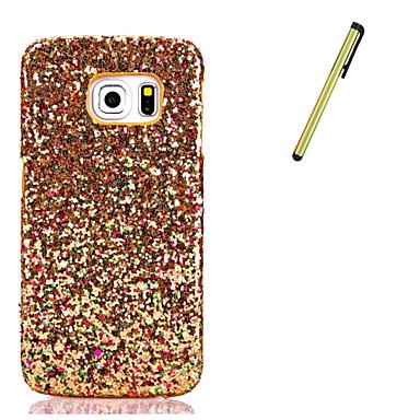 Case Kompatibilitás Samsung Galaxy S7 edge S7 Strassz Fekete tok Csillogó Kemény PU bőr mert S7 edge S7 S6 edge S6