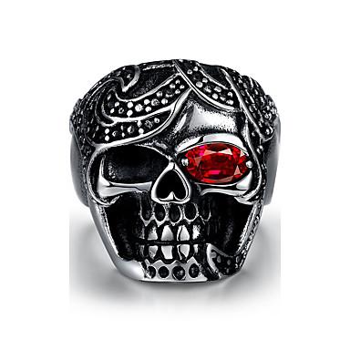Ανδρικά Δαχτυλίδι Πανκ Ανοξείδωτο Ατσάλι Κρανίο Κοσμήματα Halloween Καθημερινά Causal Αθλητικά