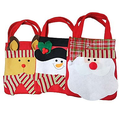 패션 스타일를 Chrismas 산타 클로스 사탕 선물 가방 핸드백 파우치 선물 가방 크리스마스 장식 2,016 선물 2PC