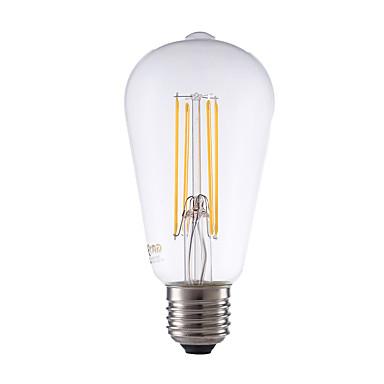 E26/E27 مصابيحLED ST64 4 الأضواء COB تخفيت ديكور أبيض دافئ 450lm 2700K AC 220-240V