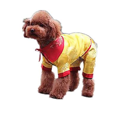 Koira Neulepaidat Koiran vaatteet Sievä Rento/arki Pidä Lämmin Kukka Keltainen Asu Lemmikit