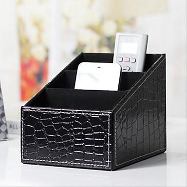 Kosmetyczka Pudełko na kosmetyki Przechowywanie kosmetyków Jendolity kolor PU Blaknięcie Czarny Normalny