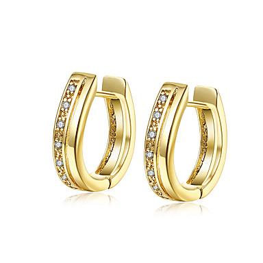 Dame Cercei Stud Bijuterii Design Basic Placat Auriu Bijuterii Bijuterii Pentru Nuntă Petrecere Zilnic Casual