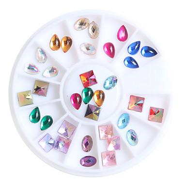 36pcs/box Sanat Dekorasyon Nail Rhinestone inciler Makyaj Kozmetik Sanat Tasarım Nail