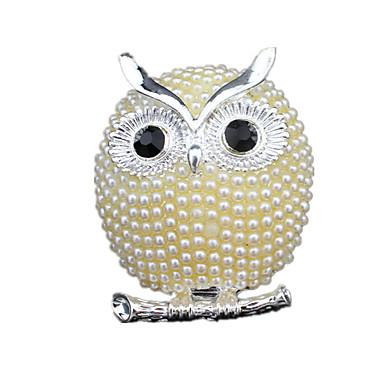 Damskie Broszki luksusowa biżuteria Perłowy Imitacja diamentu Sowa Biżuteria Na Ślub Impreza Codzienny Casual