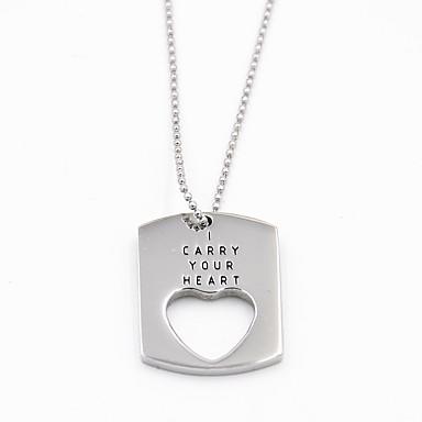 Erkek Kadın's Kalp Paslanmaz Çelik Aşk Moda Mücevher Uyumluluk sevgililer günü