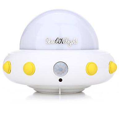 youoklight DC5V 1W طبق طائر على شكل جسم غامض أدى ضوء الليل الحركة مصباح الاستشعار عن غرفة نوم الأطفال الحضانة