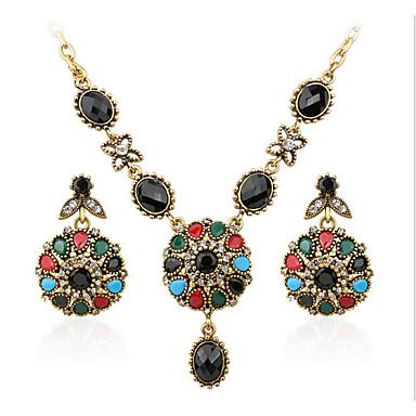 Γυναικεία Συνθετικό ρουμπίνι / Cubic Zirconia Κοσμήματα Σετ 1 Κολιέ / 1 Ζευγάρι σκουλαρίκια - Πολυτέλεια Ουράνιο Τόξο Σετ Κοσμημάτων Για