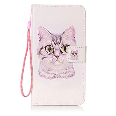 tok Για Samsung Galaxy J7 (2016) J5 (2016) Πορτοφόλι Θήκη καρτών Ανοιγόμενη Με σχέδια Πλήρης κάλυψη Γάτα Σκληρή PU Δέρμα για On 5 J7