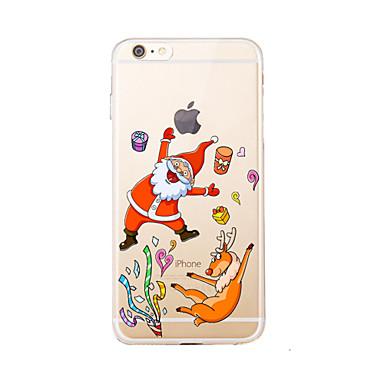 tok Για Apple iPhone 7 Plus iPhone 7 Διαφανής Με σχέδια Πίσω Κάλυμμα Χριστούγεννα Μαλακή TPU για iPhone 7 Plus iPhone 7 iPhone 6s Plus