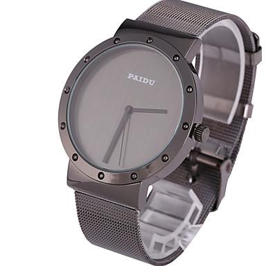 남성 스포츠 시계 드레스 시계 패션 시계 손목 시계 펑크 석영 스테인레스 스틸 밴드 빈티지 멋진 캐쥬얼 블랙