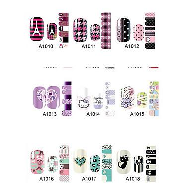 1sheet Nail Art matrica Víz Transfer Matricák smink Kozmetika Nail Art Design
