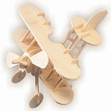 puzzle Ahşap Yapbozlar Yapı taşları DIY Oyuncak Hava Aracı / Ev 1 Ahşap Kristal Model ve İnşaa Oyuncakları