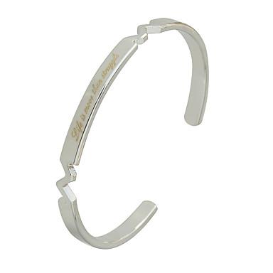 Bilezikler Halhallar alaşım ilk Takı Doğumgünü Günlük Mücevher Hediye Gümüş Gül Altın,1pc