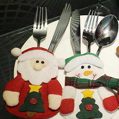 3szt Narodzenie produkty Santa Claus worek tabeli stołowe wzór jest przypadkowa