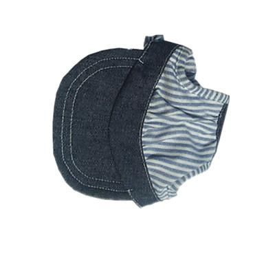 Kot Pies Bandany i kapelusze Ubrania dla psów Kowboj Jeansy Niebieski
