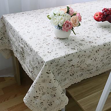 Ορθογώνιο Φλοράλ Τραπεζομάντιλα , Μείγμα Λινο / Βαμβάκι Υλικό Γάμοι Δείπνο Διακόσμηση εύνοια Διακόσμηση Σπιτιού Ξενοδοχείο Τραπέζι