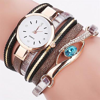 Kadın's Bilek Saati Bilezik Saat Moda Saat Quartz Renkli PU Bant İhtişam Işıltılı Vintage Nokta Gökküşağı Günlük Bohem Havalı Halhal