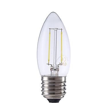 E26/E27 LED-hehkulamput B 2 ledit COB Lämmin valkoinen Kylmä valkoinen 250lm 6500/2700K AC 220-240V
