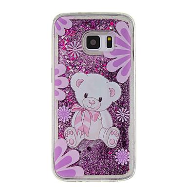 Etui Käyttötarkoitus Samsung Galaxy S7 edge S7 Virtaava neste Kuvio Takakuori Eläin Pehmeä TPU varten S7 edge S7 S6 edge S6 S5