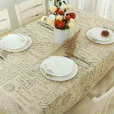 Prostokątny Wzorzyste Obrusy , Linen / Cotton Mieszanka Materiał Hotel Stół Weselne Kolacja Tabela Dceoration Wesela Kolacja Decor Favor