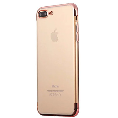Kılıf Na Apple iPhone 6 iPhone 7 Plus iPhone 7 Galwanizowane Czarne etui Solid Color Miękkie TPU na iPhone 7 Plus iPhone 7 iPhone 6s Plus