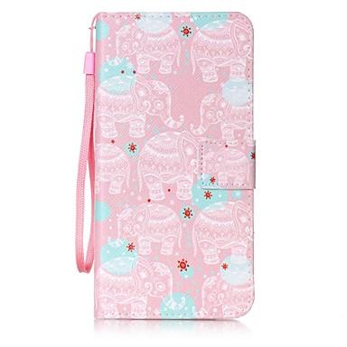 Için Cüzdan / Kart Tutucu / Satandlı / Flip Pouzdro Arka Kılıf Pouzdro Fil Sert PU Deri için AppleiPhone 7 Plus / iPhone 7 / iPhone 6s