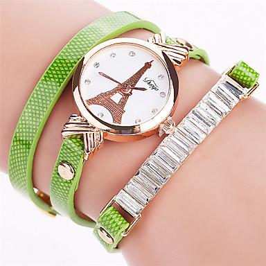 Xu™ Damskie Modny Zegarek na bransoletce Kwarcowy PU Pasmo Postarzane Na co dzieńCzarny Biały Niebieski Czerwony Pomarańczowy Brązowy
