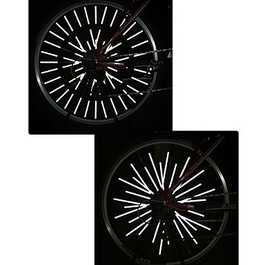 cheap Bike Lights-Bike Light Reflective Band Wheel Lights Cycling Waterproof Cuttable Suitable for Vehicles Other Oother White Cycling / Bike