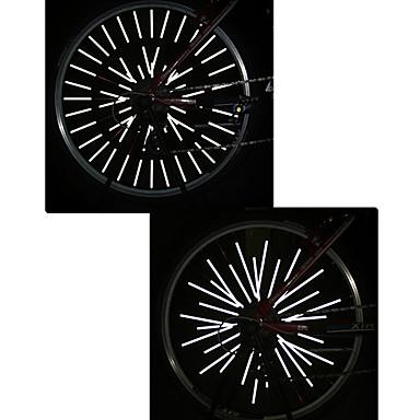 رخيصةأون اضواء الدراجة-اضواء الدراجة حزام عاكس أضواء عجلة ركوب الدراجة ضد الماء قابل للقص مناسبة للالسيارات آخر Oother أبيض أخضر