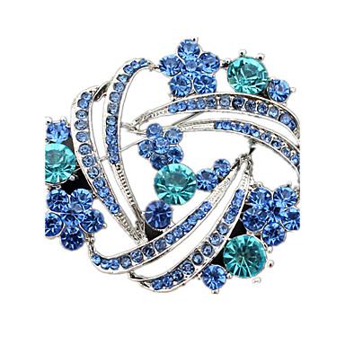 للمرأة دبابيس كريستال تقليد الماس مجوهرات من أجل زفاف حزب يوميا فضفاض
