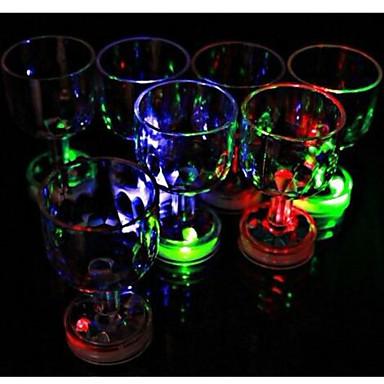 kolor migający mały kielich z lampą błyskową LED 1szt, dekoracje świąteczne i świąteczne