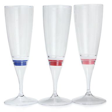 1pc COLORMIX şampanya cam bardak kadeh parti / düğün / parti / ktv / home / bar gece ışık led