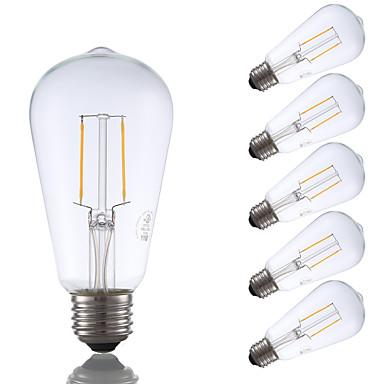 E26 LED Λάμπες Πυράκτωσης ST19 2 leds COB Διακοσμητικό Με ροοστάτη Θερμό Λευκό 220lm 2700K AC 110-130V