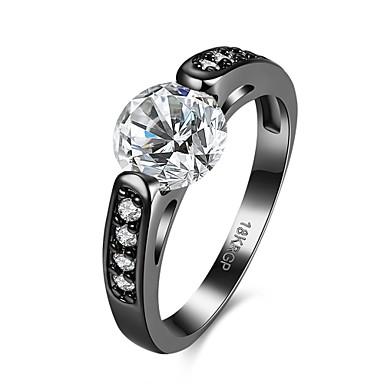 여성용 약혼 반지 새해 맞이 화이트 퍼플 지르콘 구리 결혼식 파티 일상 캐쥬얼 의상 보석
