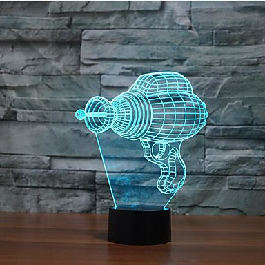 elektromos fúró érintés tompítása 3D LED éjszakai fény 7colorful dekoráció hangulat lámpa újdonság világítás karácsonyi fény