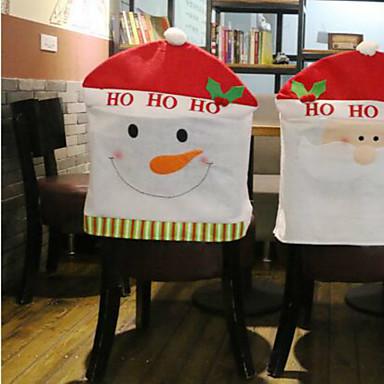 체어 커버 휴일 영감 크리스마스 카툰 카툰 크리스마스 파티 크리스마스 장식