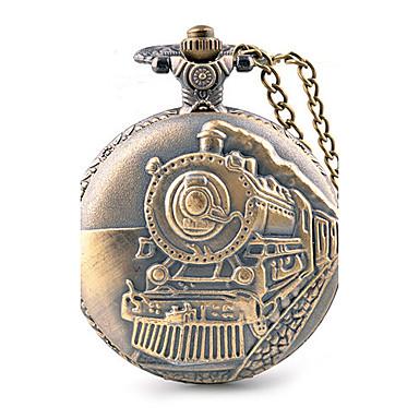 Erkek Cep kol saati Quartz / Büyük Kadran Alaşım Bant Günlük Kahverengi