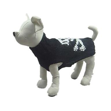 Köpek Kazaklar Köpek Giyimi Cadılar Bayramı Kuru Kafalar Siyah