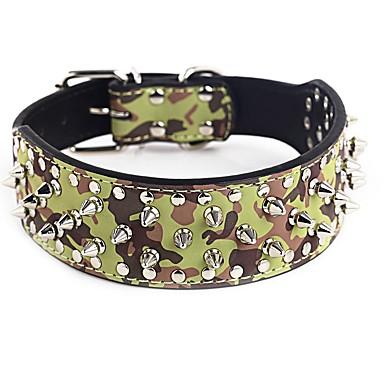 Σκύλος Κολάρα Προσαρμόσιμη / Τηλεσκοπικό Με Τρουκ Βράχος PU δέρμα Βυσσινί Καφέ Πράσινο