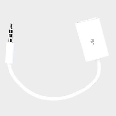 3.5mm Plug Car Audio MP3 Kablosu 15cm 12V USB Dişi