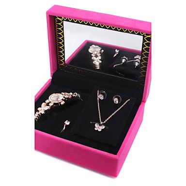 Γυναικεία Σετ Κοσμημάτων Κρυστάλλινο Cubic Zirconia Animal Shape Πεταλούδα 1 Κολιέ 1 Ζευγάρι σκουλαρίκια Δακτυλίδια 1 Συσκευασία Για