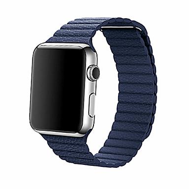 Urrem for Apple Watch Series 4/3/2/1 Apple Læderrem Ægte læder Håndledsrem