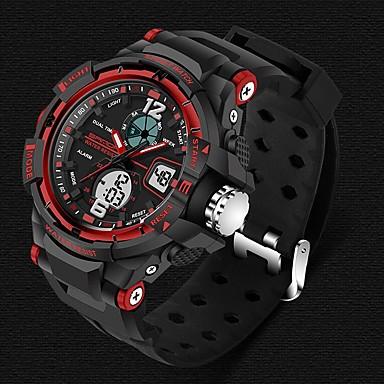 זול שעוני גברים-SANDA בגדי ריקוד גברים שעוני ספורט חכמים שעונים שעון יד דיגיטלי קוורץ יפני סיליקוןריצה שחור 30 m עמיד במים Alarm כרונוגרף אנלוגי-דיגיטלי פאר יום יומי אופנתי - שחור אדום כחול שנתיים חיי סוללה / LED