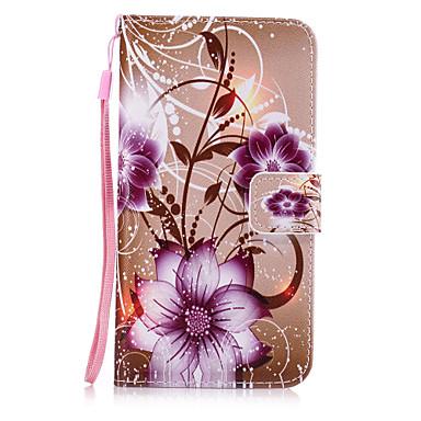 Etui Käyttötarkoitus Samsung Galaxy A7(2017) A3(2017) Korttikotelo Lomapkko Tuella Takakuori Kukka Kova PU-nahka varten A3 (2017) A5